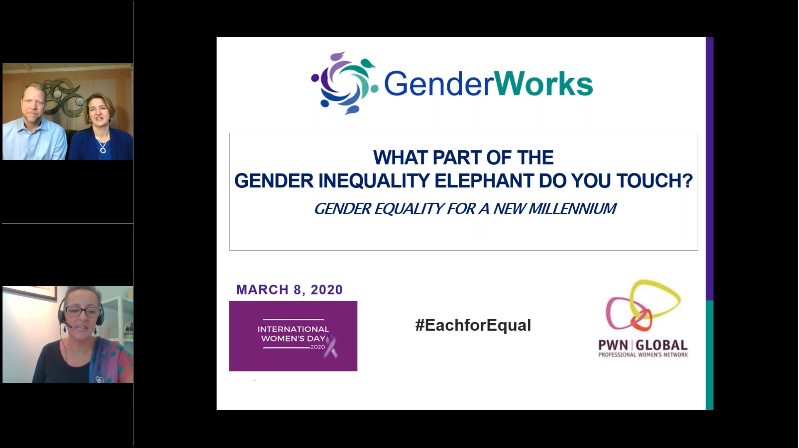PWN Global Webinar: IWD 2020 – Gender Equality is a Big, Complicated Issue: What Part of the Elephant Do You Touch?